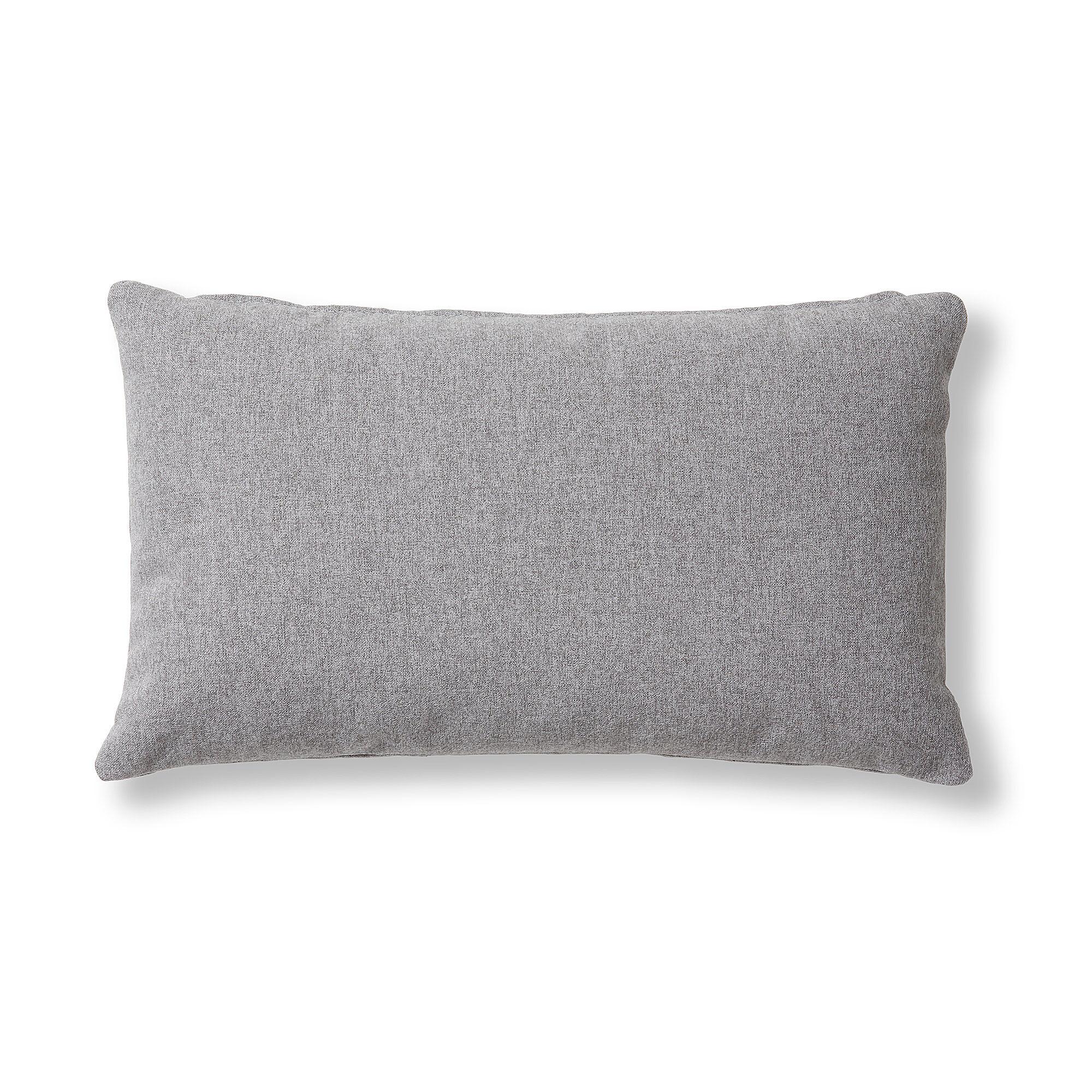 Kave Home Fodera per cuscino Kam 30 x 50 cm grigio
