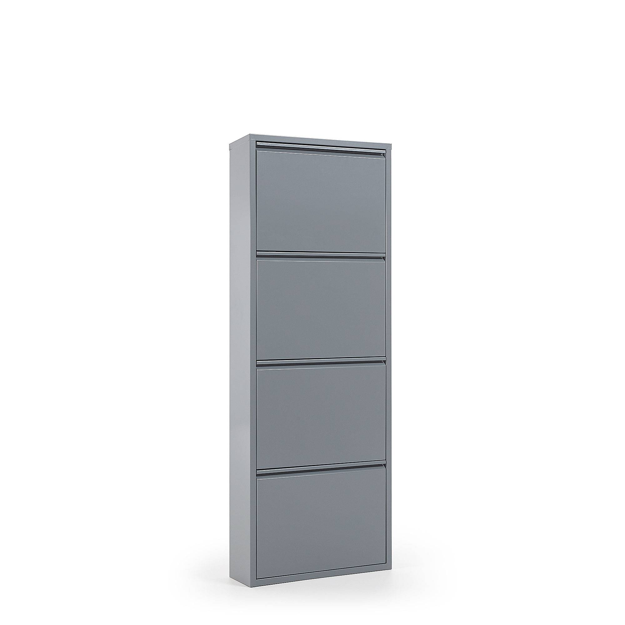 Kave Home Scarpiera Ode 50 x 136 cm 4 ante grigio