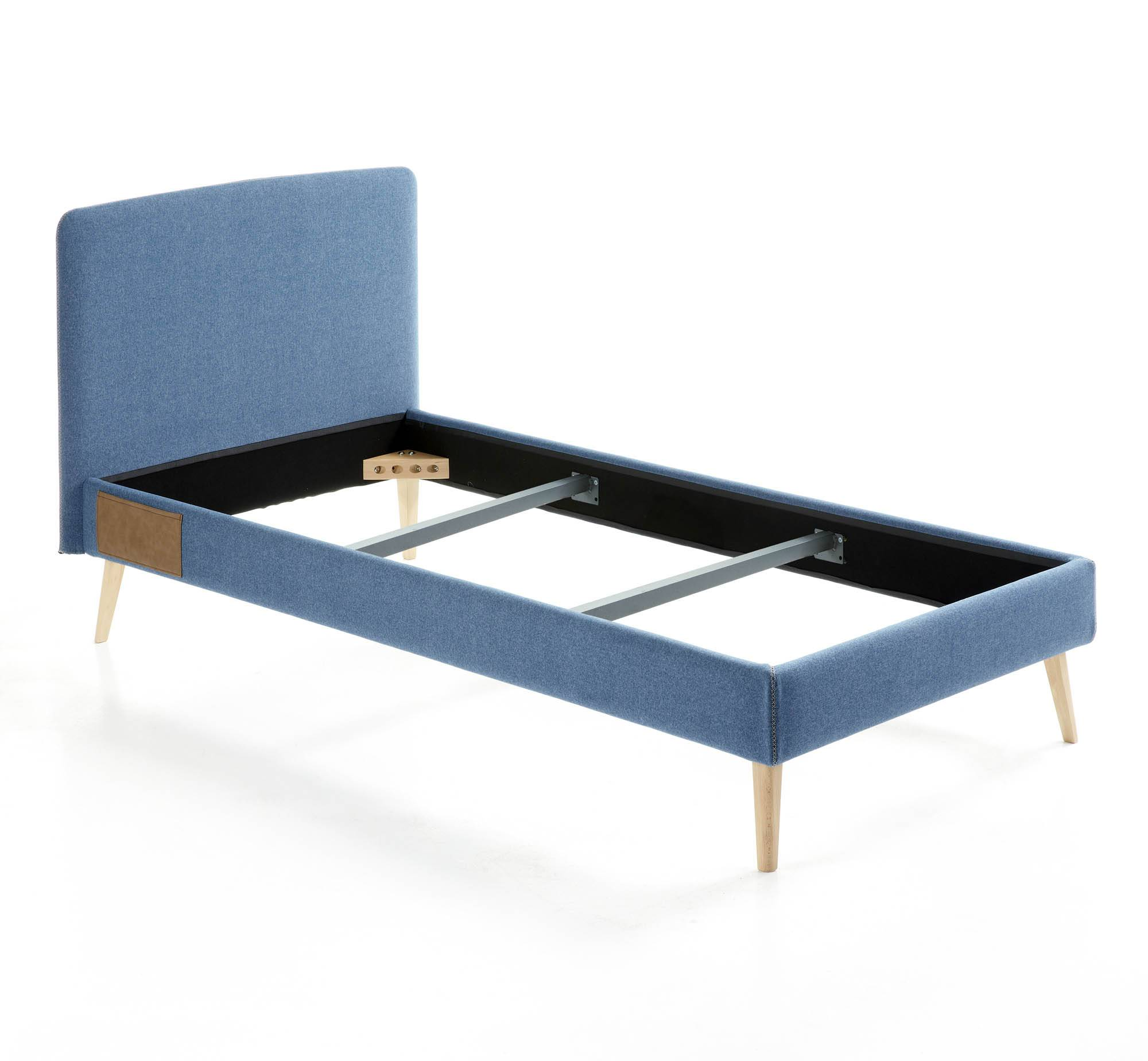 Kave Home Letto Dyla 90 x 190 cm blu scuro