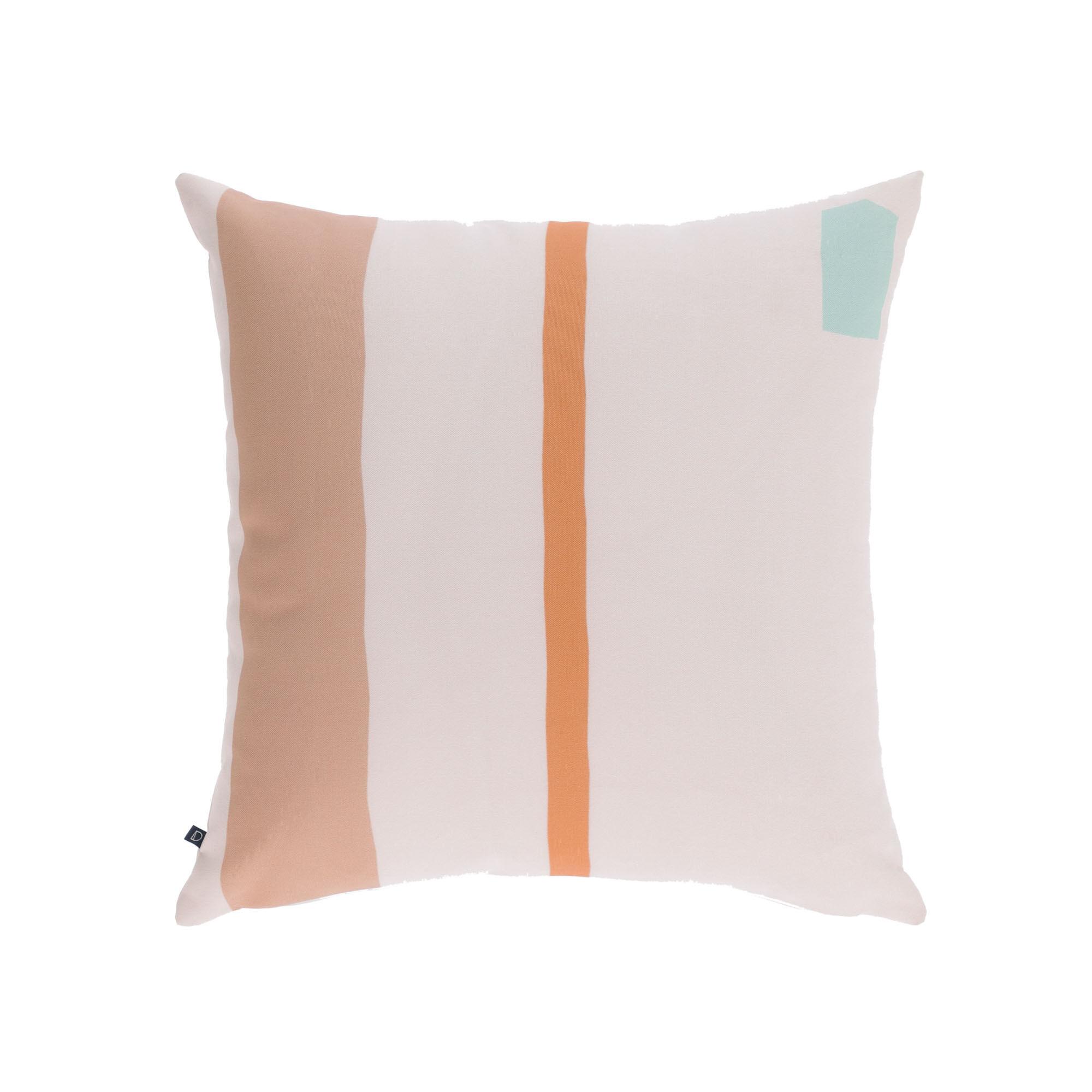 kave home fodera per cuscino calantina righe verticali multicolori 45 x 45 cm