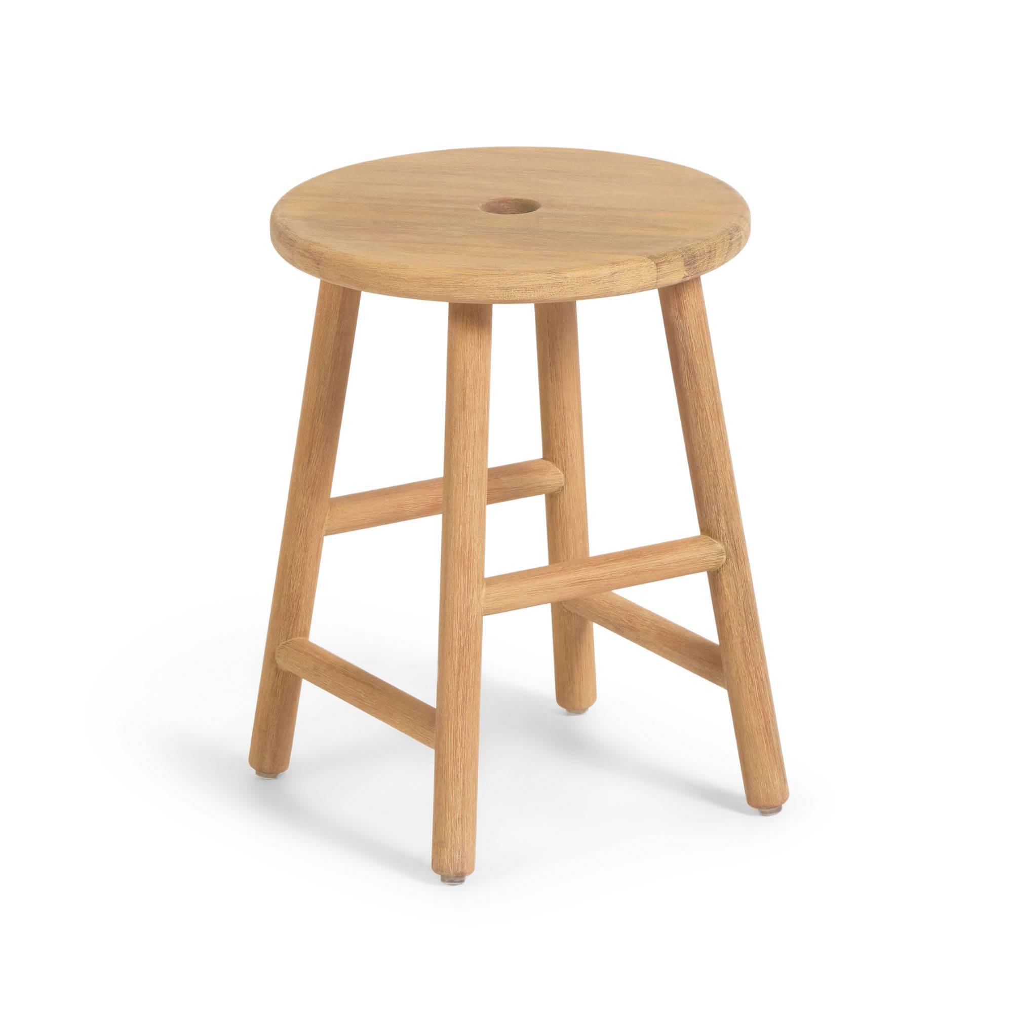 Kave Home Tavolino rotondo Huara in legno massello di eucalipto Ø 35 cm FSC 100%