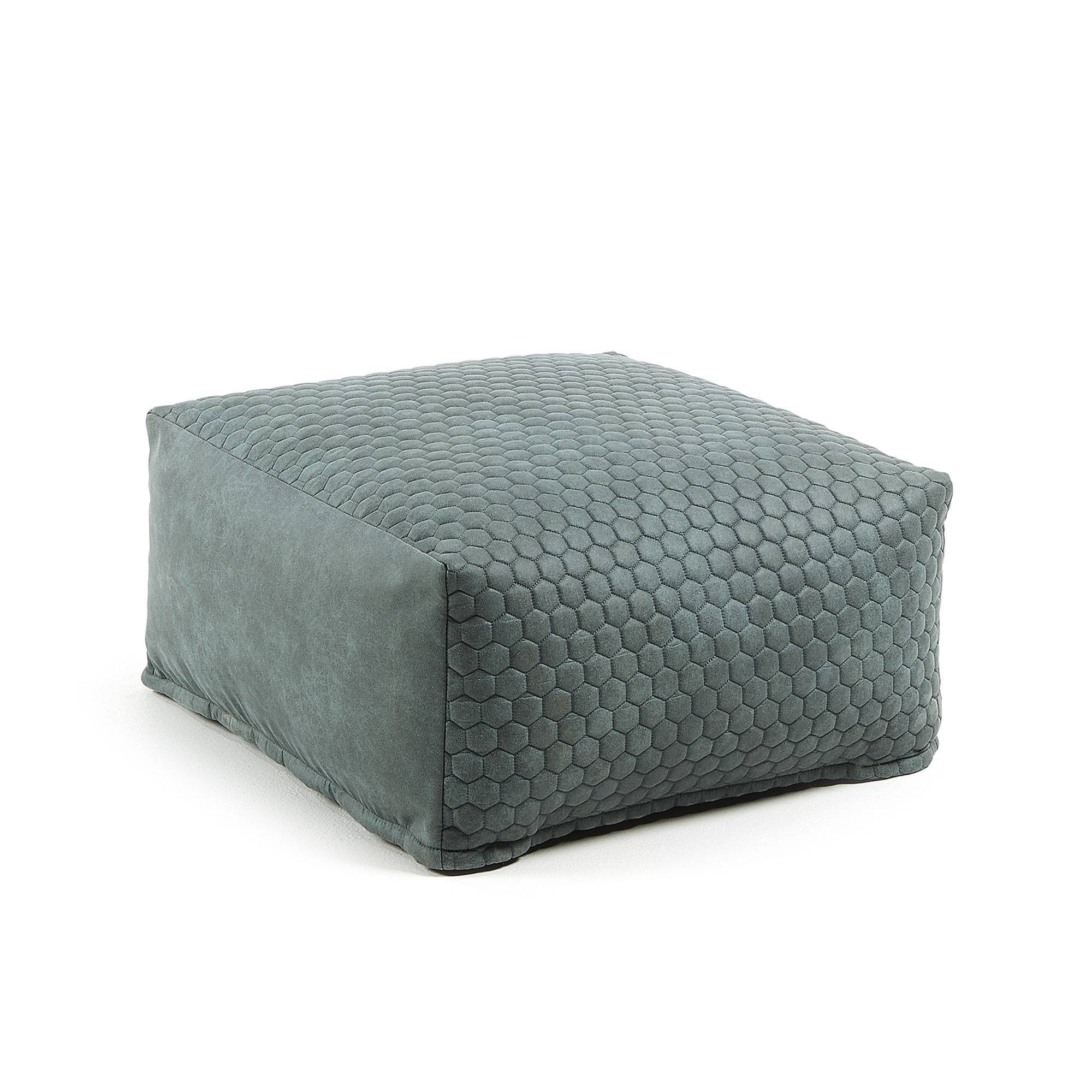 Kave Home Pouf Indam 60 x 60 cm turchese