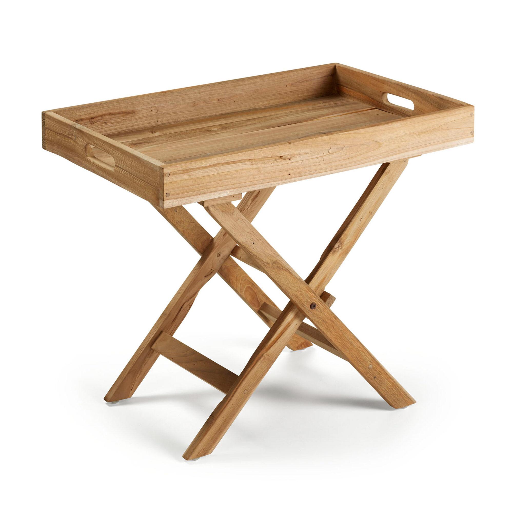 Kave Home Tavolino pieghevole Xtray 70 x 45 cm