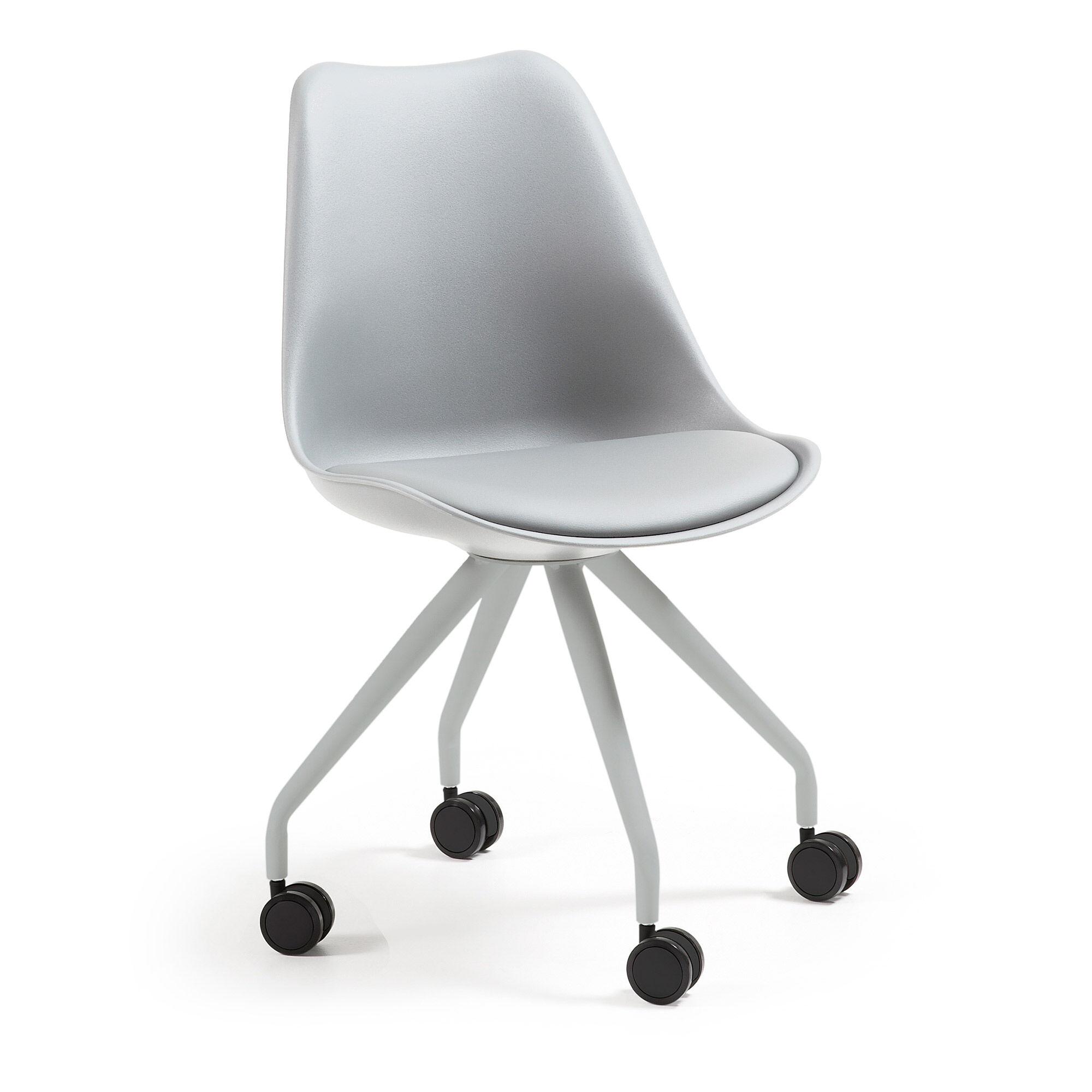 kave home sedia da ufficio ralf grigio