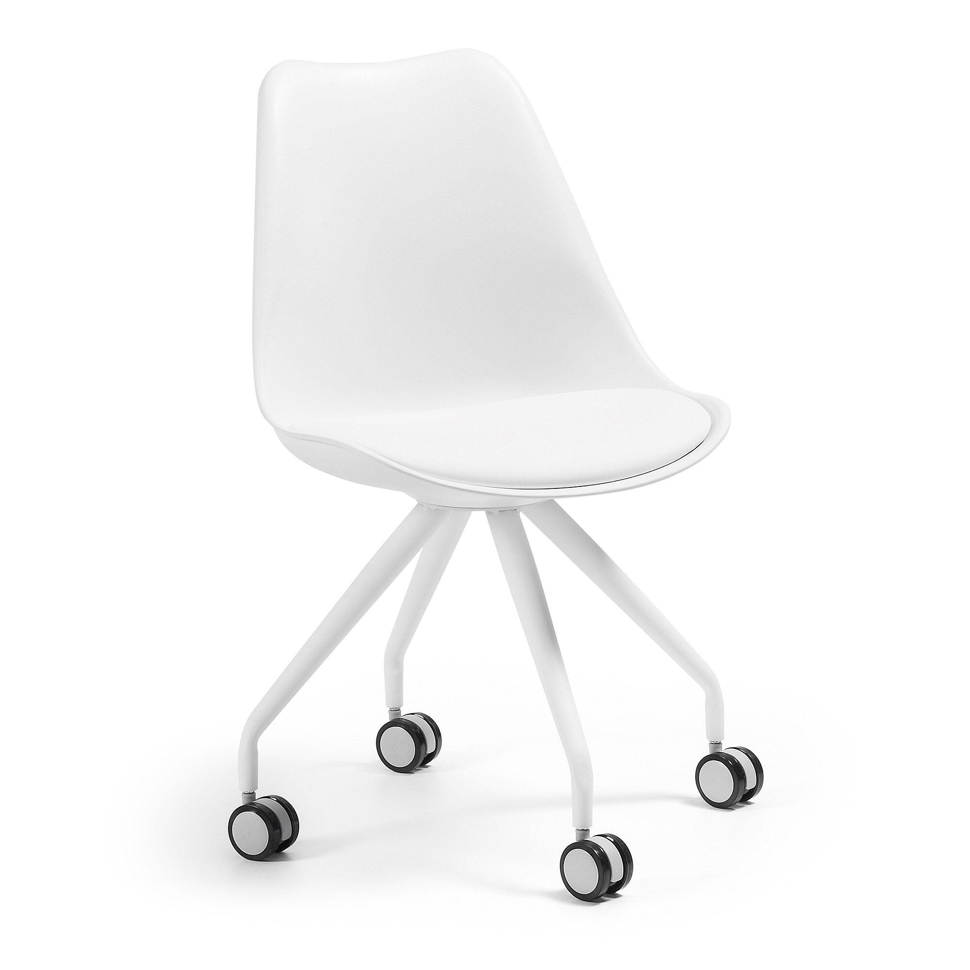 kave home sedia da ufficio ralf bianco