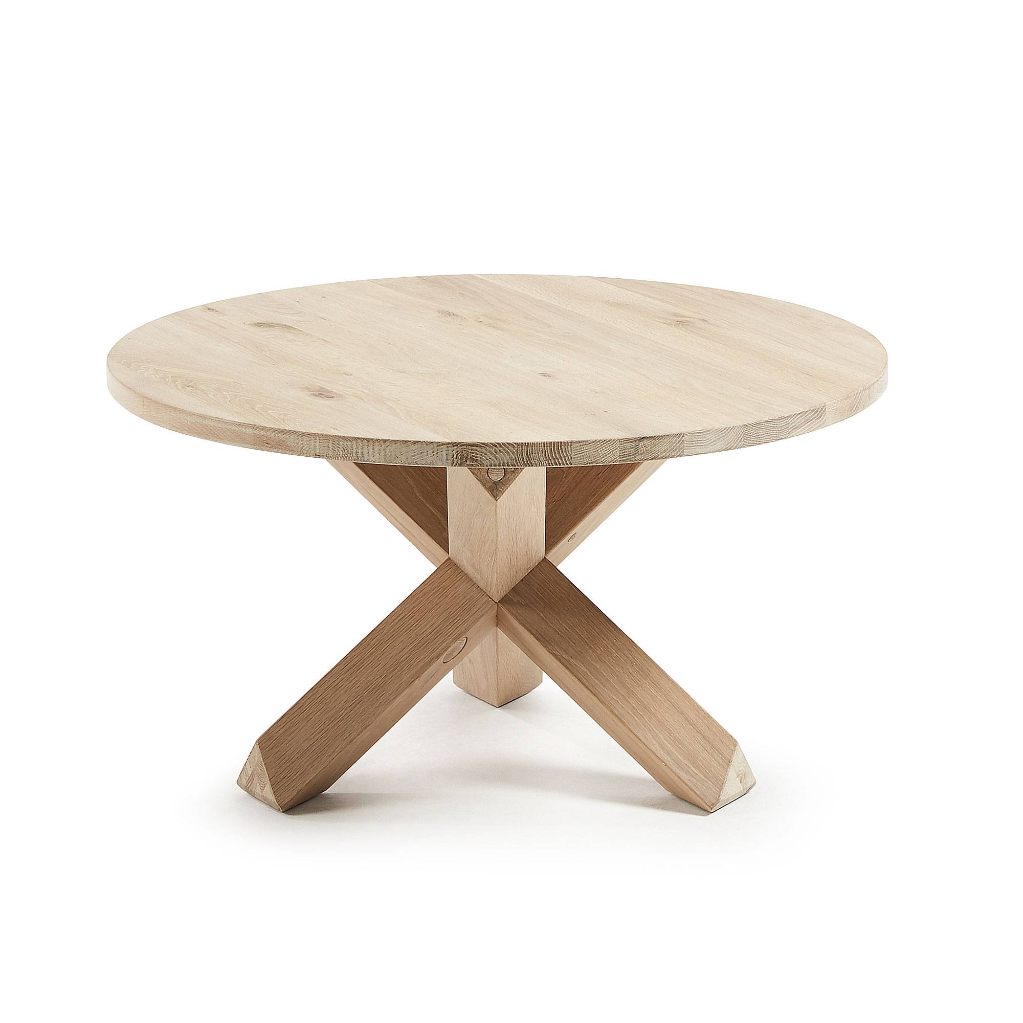 Kave Home Tavolino da caffè Lotus Ø 65 cm legno