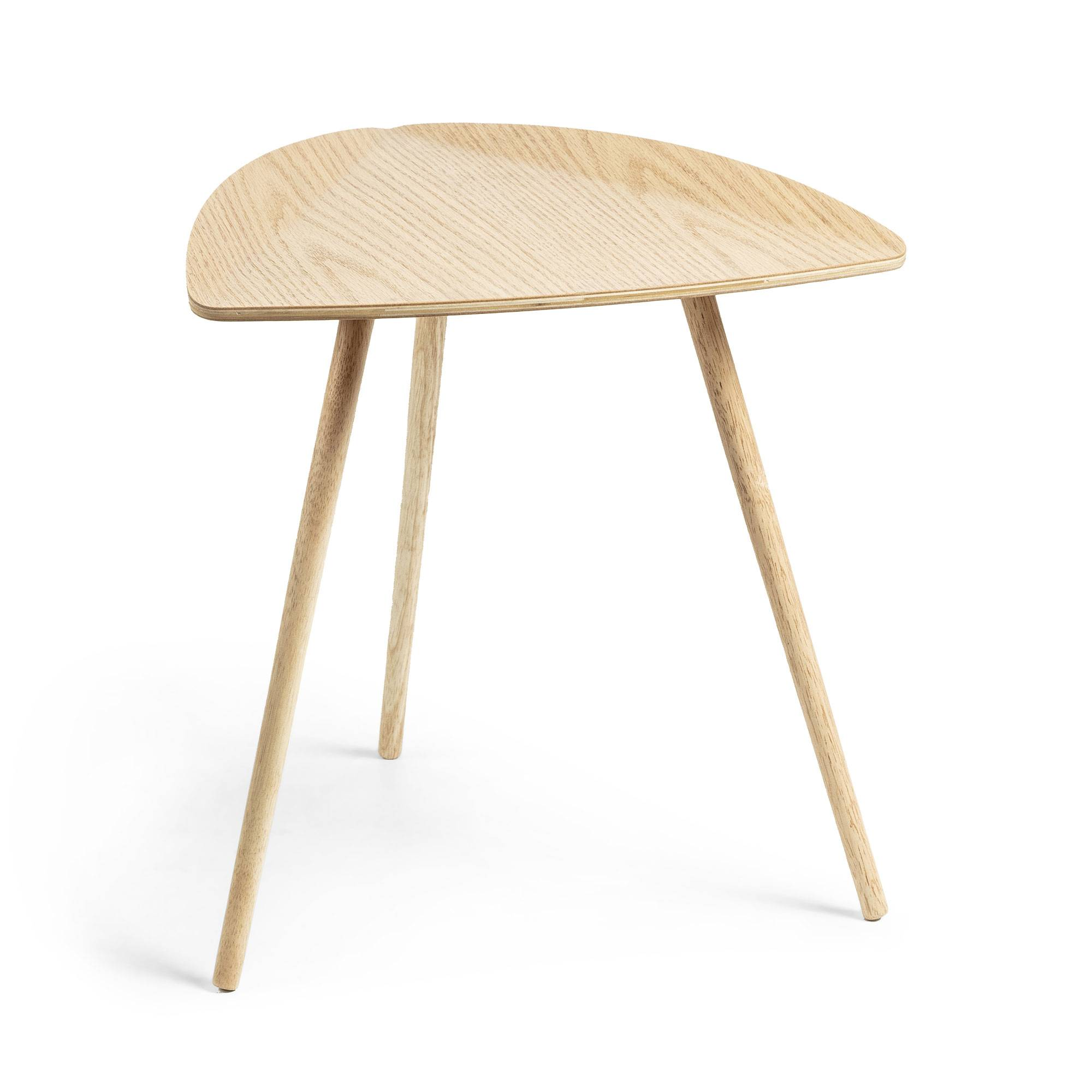 Kave Home Tavolino Damasc in legno di rovere impiallacciato 45 x 47 cm