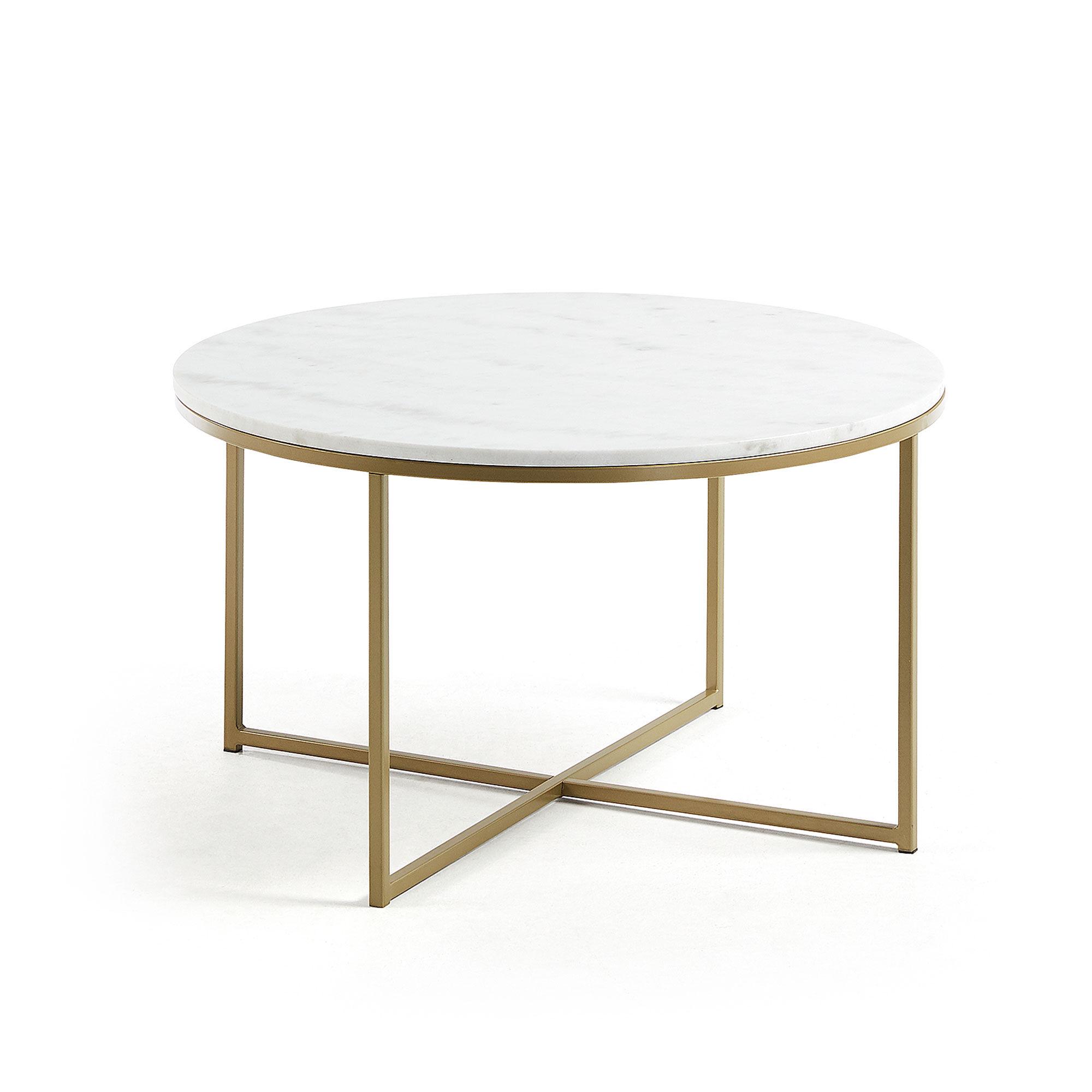 Kave Home Tavolino da caffè Sheffield Ø 80 cm