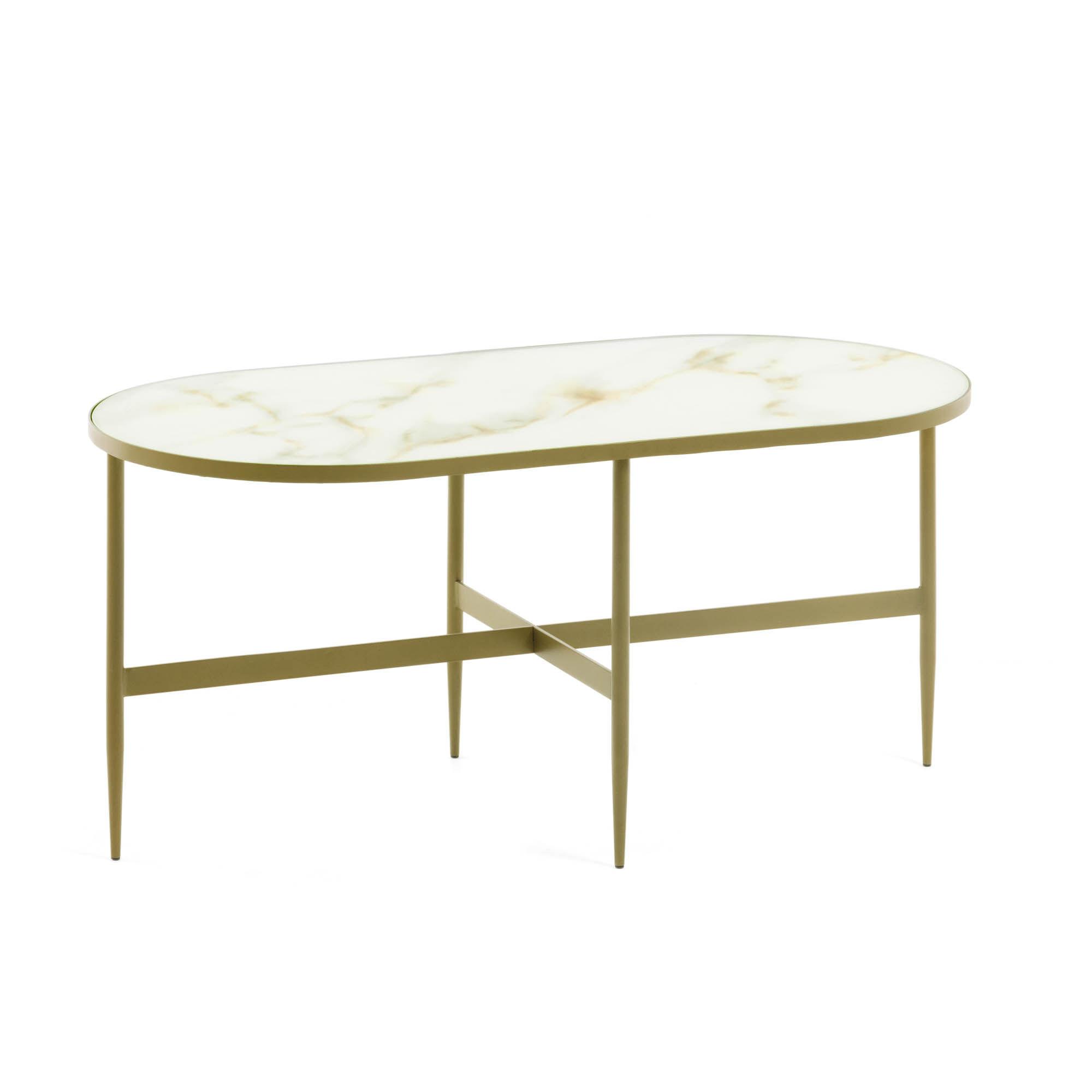 Kave Home Tavolino da caffè Elisenda 100 x 50 cm
