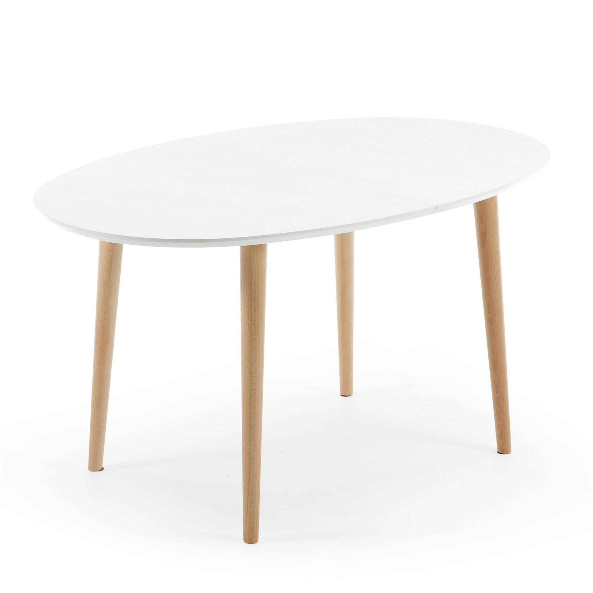 Kave Home Oqui tavolo allungabile 140-220 cm bianco