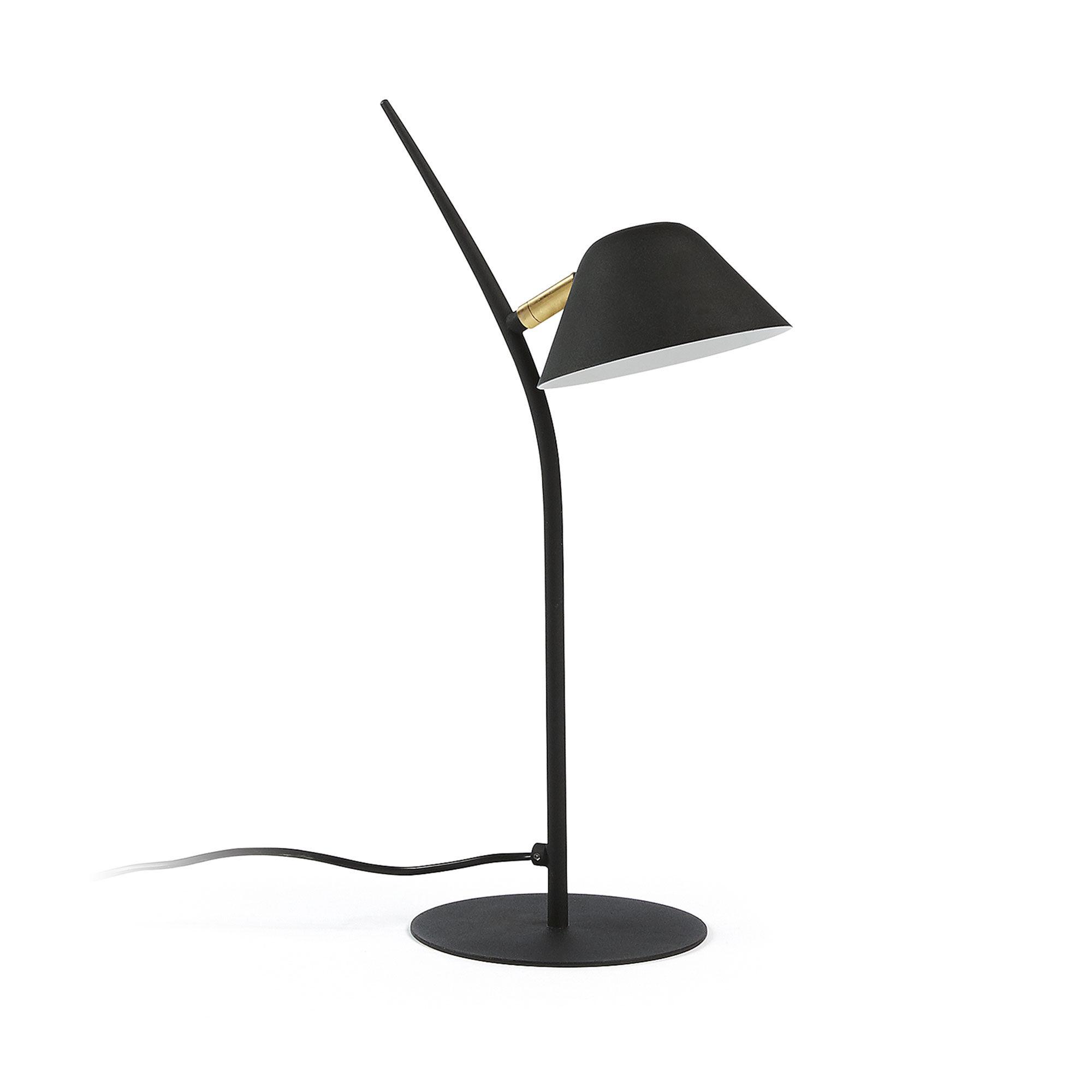 Kave Home Lampada da tavolo Aurelia nero
