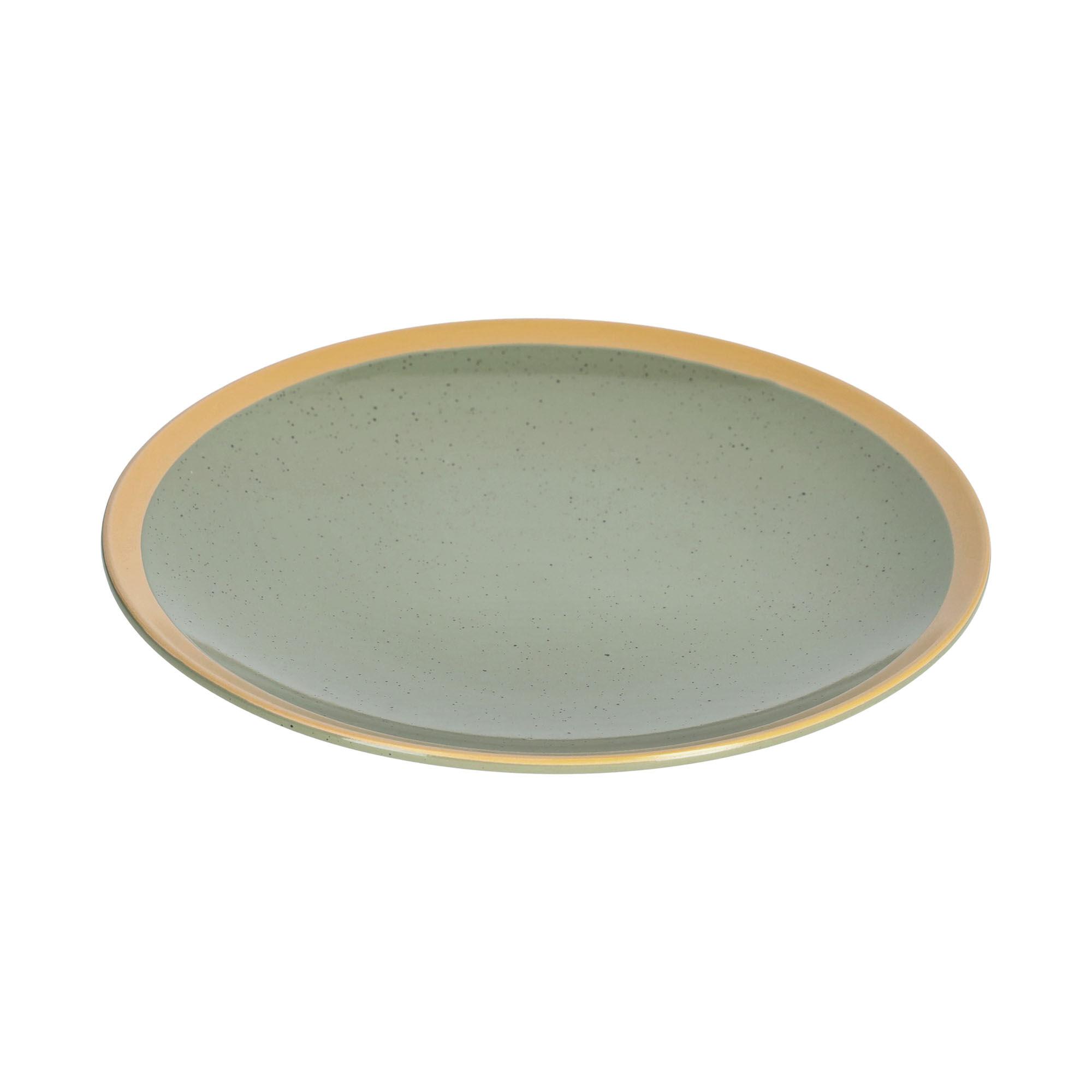 kave home piatto piano tilia in ceramica verde scuro