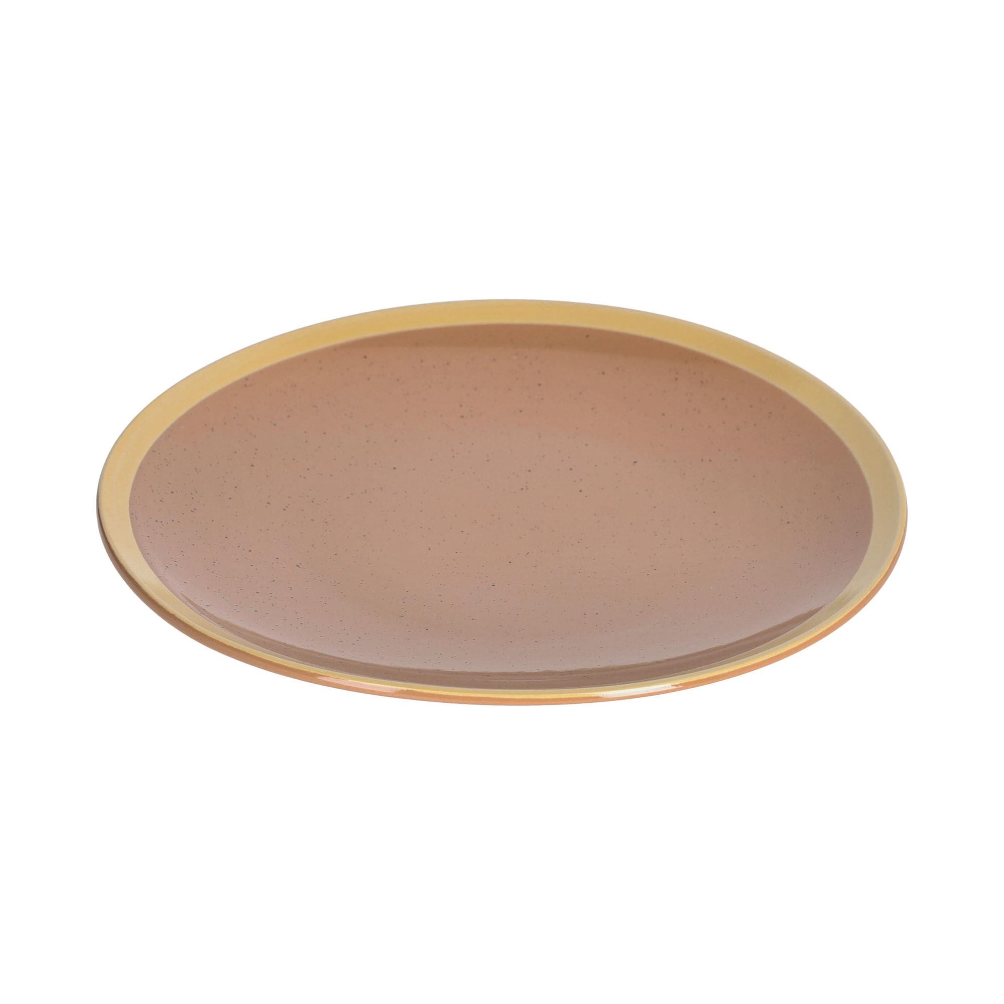 kave home piatto piano tilia in ceramica marrone chiaro