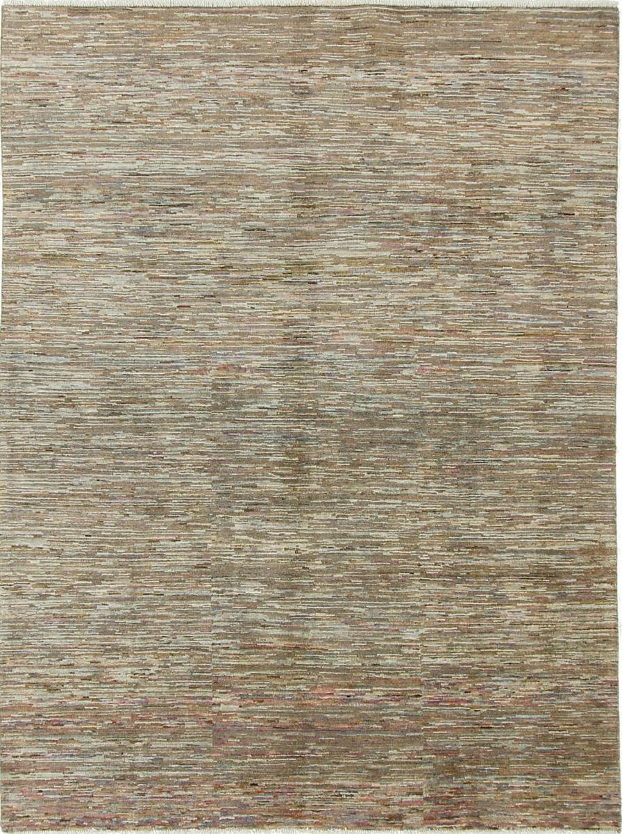 Nain Trading Tappeto Orientale Ziegler Moderni 193x145 Grigio/Marrone Scuro (Persia/Iran, Lana, Annodato a mano)