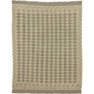 Nain Trading Tappeto Kilim Afghan Heritage 192x148 Beige/Marrone Scuro (Afghanistan, Tessuto a mano, Lana)