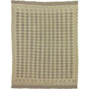 Nain Trading Tappeto Orientale Kilim Afghan Heritage 192x148 Beige/Marrone Scuro (Afghanistan, Lana, Tessuto a mano)