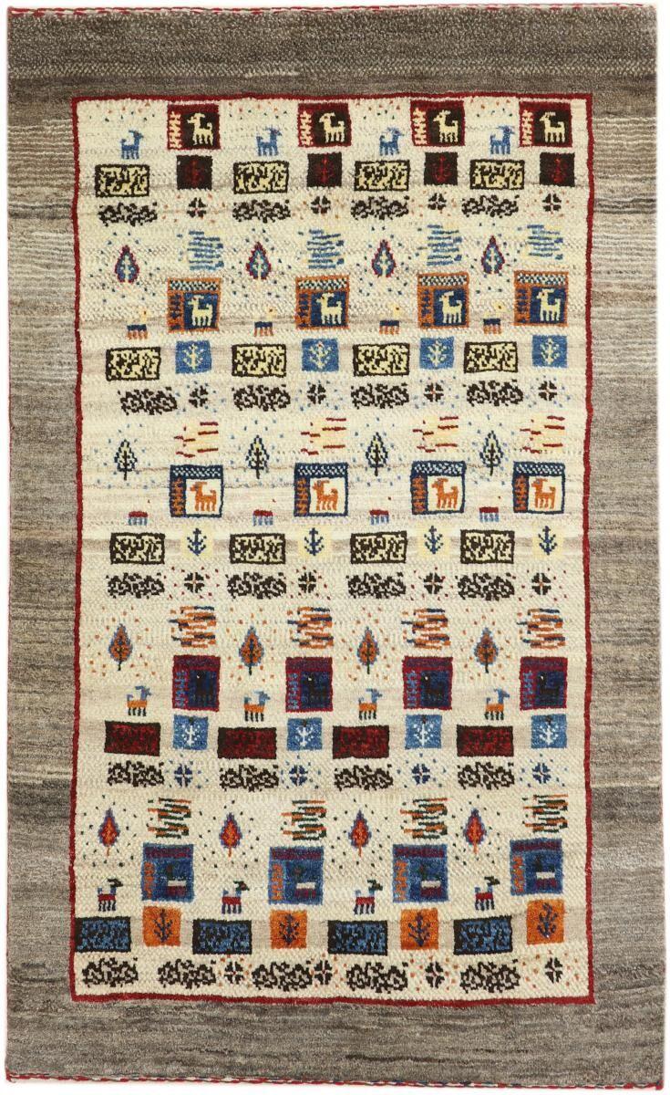 nain trading tappeto persiano persia gabbeh yalameh nature 144x88 grigio/marrone scuro (annodato a mano, persia/iran, lana)