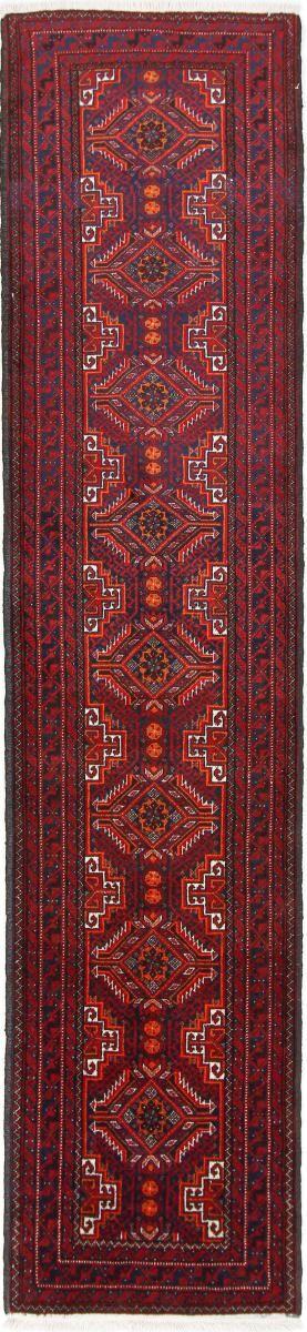 Nain Trading Tappeto Orientale Beluch 282x65 Corridore Marrone Scuro/Ruggine (Lana, Persia/Iran, Annodato a mano)