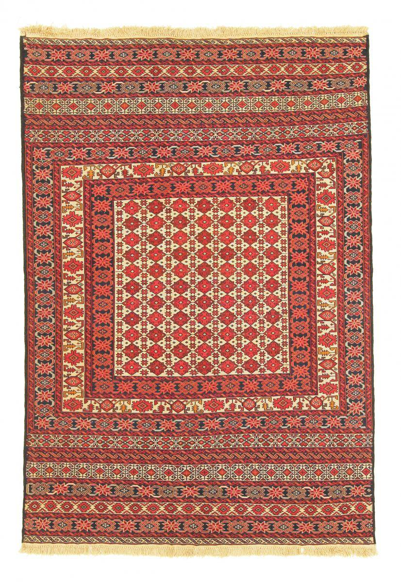 Nain Trading Tappeto Orientale Kilim Sirjan 186x125 Beige/Arancione (Pakistan, Lana, Tessuto a mano)