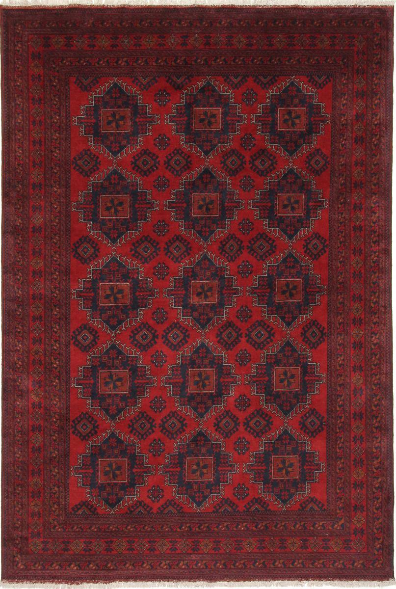 Nain Trading Tappeto Khal Mohammadi 293x198 Marrone Scuro/Ruggine (Lana / Seta, Afghanistan, Annodato a mano)