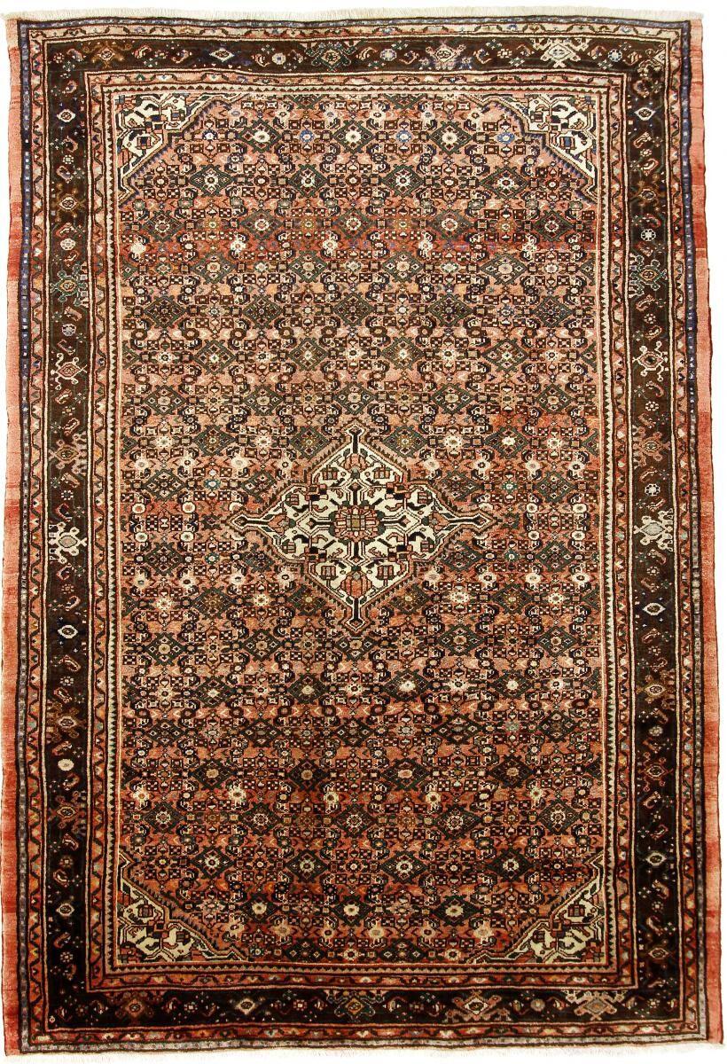Nain Trading Tappeto Orientale Hosseinabad 301x204 Beige/Marrone (Lana, Persia/Iran, Annodato a mano)