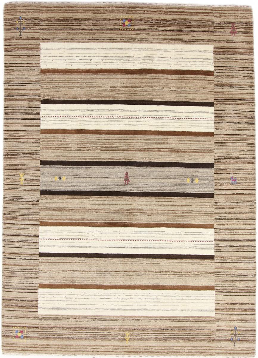 Nain Trading Tappeto Orientale Loom Gabbeh Lori 235x171 Beige/Marrone Scuro (Lana, India, Il lavoro manuale)