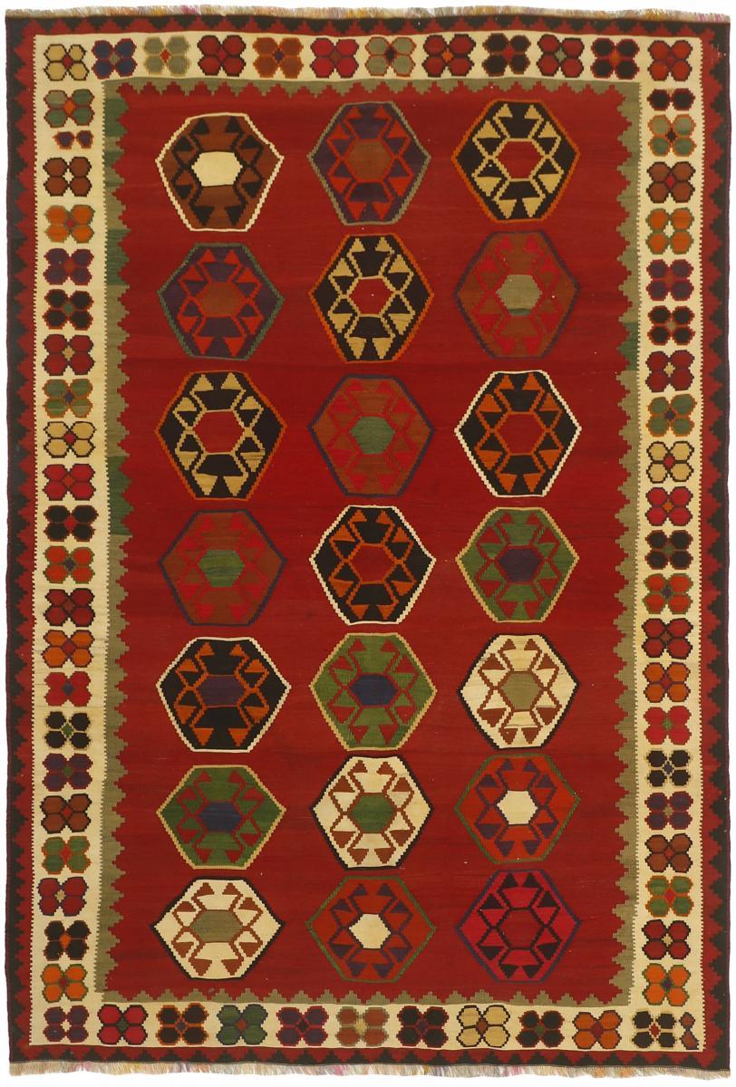 Nain Trading Tappeto Tessuto a Mano Kilim Fars Vecchio 237x155 Grigio Scuro/Beige (Lana, Persia/Iran)