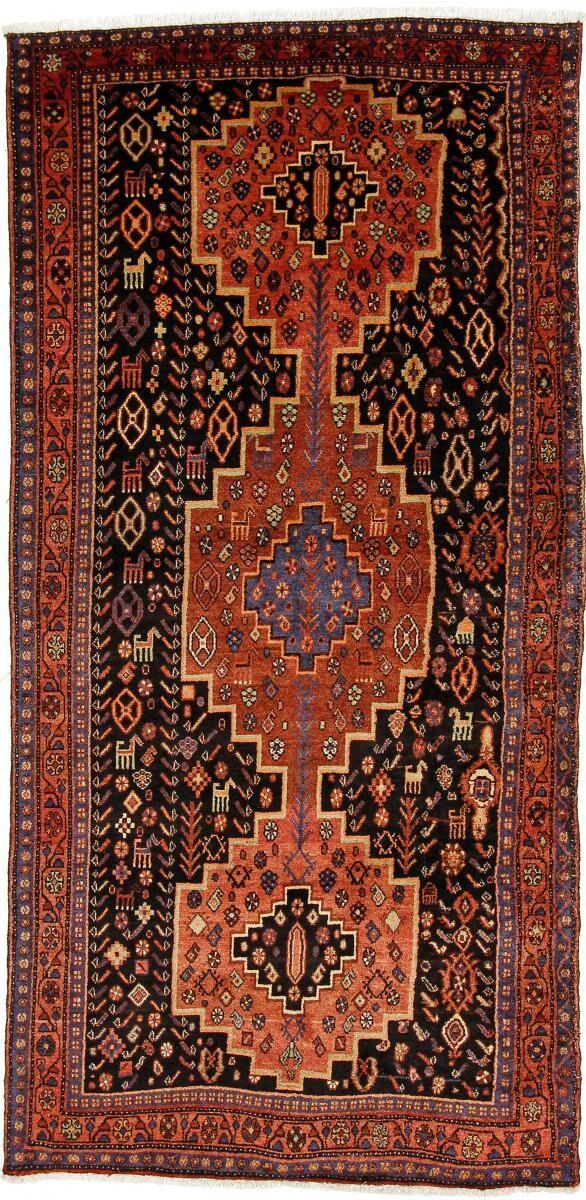 Nain Trading Tappeto Fatto A Mano Koliai 268x130 Corridore Grigio Scuro/Ruggine (Lana, Persia/Iran)