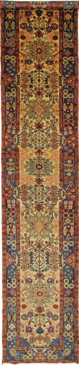 Nain Trading Tappeto Fatto A Mano Qum 457x91 Corridore Grigio Scuro/Marrone (Lana, Persia/Iran)