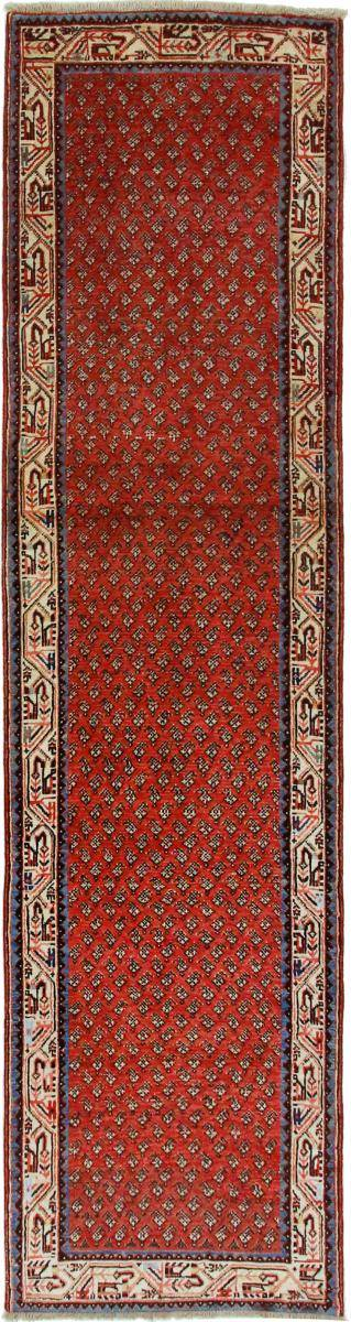 Nain Trading Tappeto Orientale Saruk Mir Boteh 306x77 Corridore Marrone/Rosa (Lana, Persia/Iran, Annodato a mano)