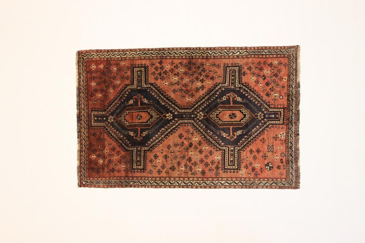 Nain Trading Tappeto Orientale Shiraz 207x133 Grigio Scuro/Arancione (Persia/Iran, Lana, Annodato a mano)