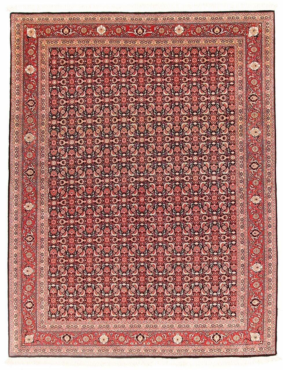 Nain Trading Tappeto Fatto A Mano Tabriz 200x152 Marrone/Ruggine (Lana, Persia/Iran)