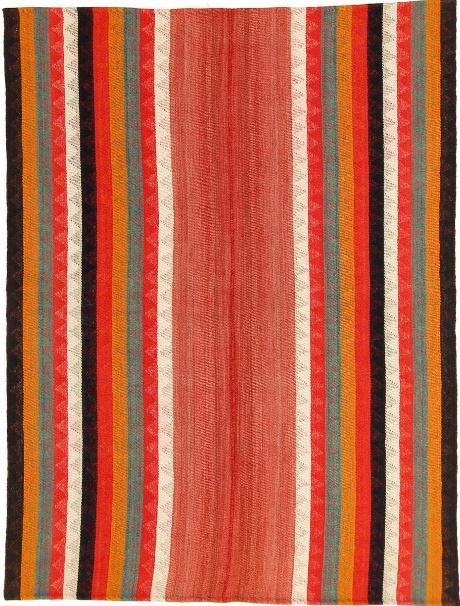Nain Trading Tappeto Kilim Fars Antico 203x156 Grigio Scuro/Arancione (Lana, Persia/Iran, Tessuto a mano)