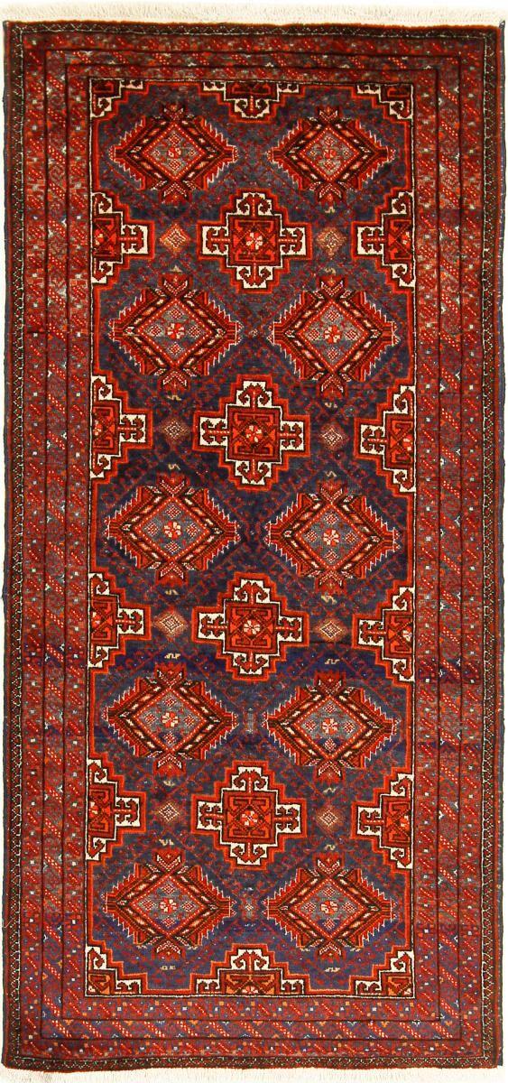 Nain Trading Tappeto Persiano Beluch 165x77 Corridore Marrone/Ruggine (Annodato a mano, Persia/Iran, Lana)