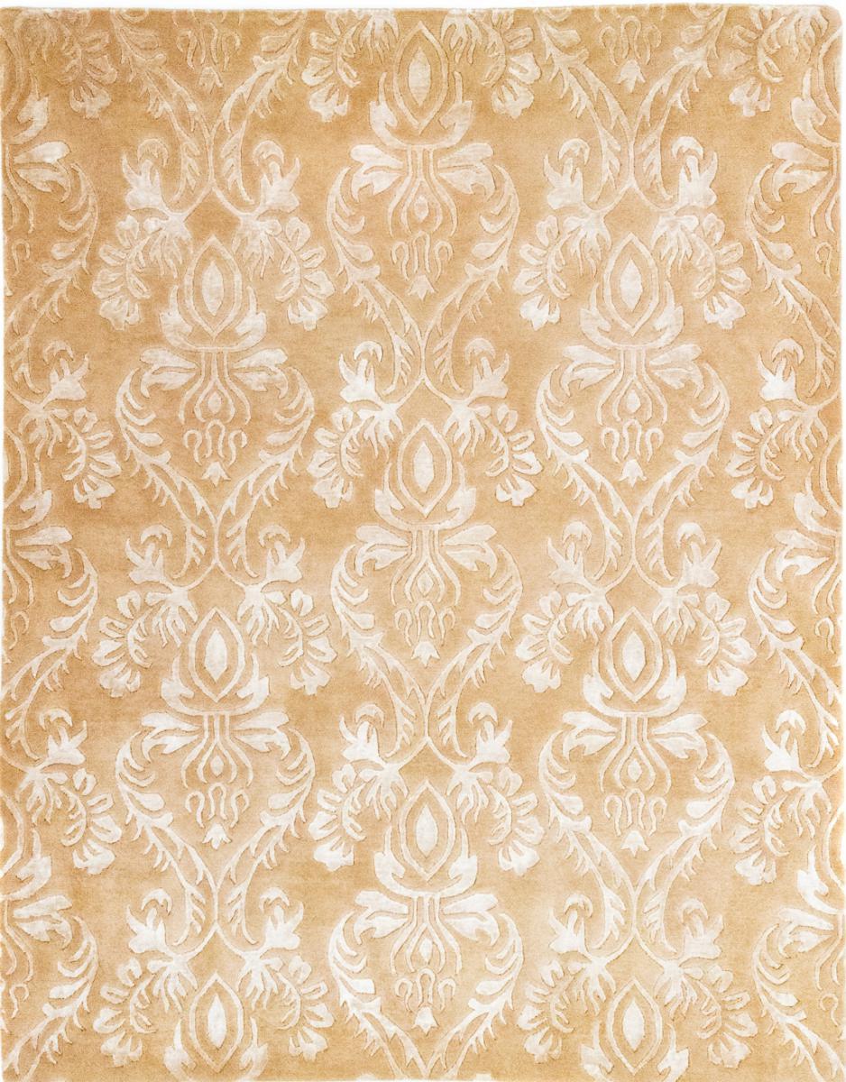 Nain Trading Tappeto Sadraa 199x155 Moderna/Design Beige/Rosa (Annodato a mano, Lana, India)