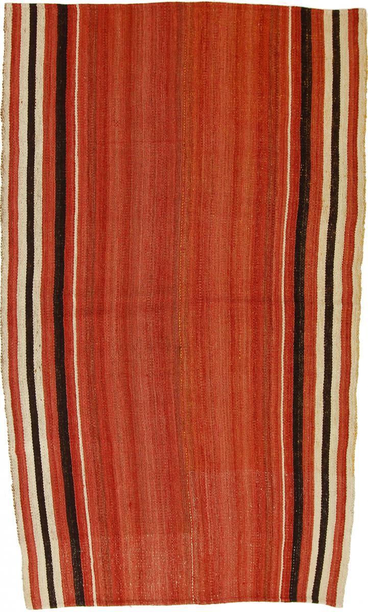 Nain Trading Tappeto Orientale Kilim Fars Antico 243x141 Grigio Scuro/Arancione (Persia/Iran, Lana, Tessuto a mano)