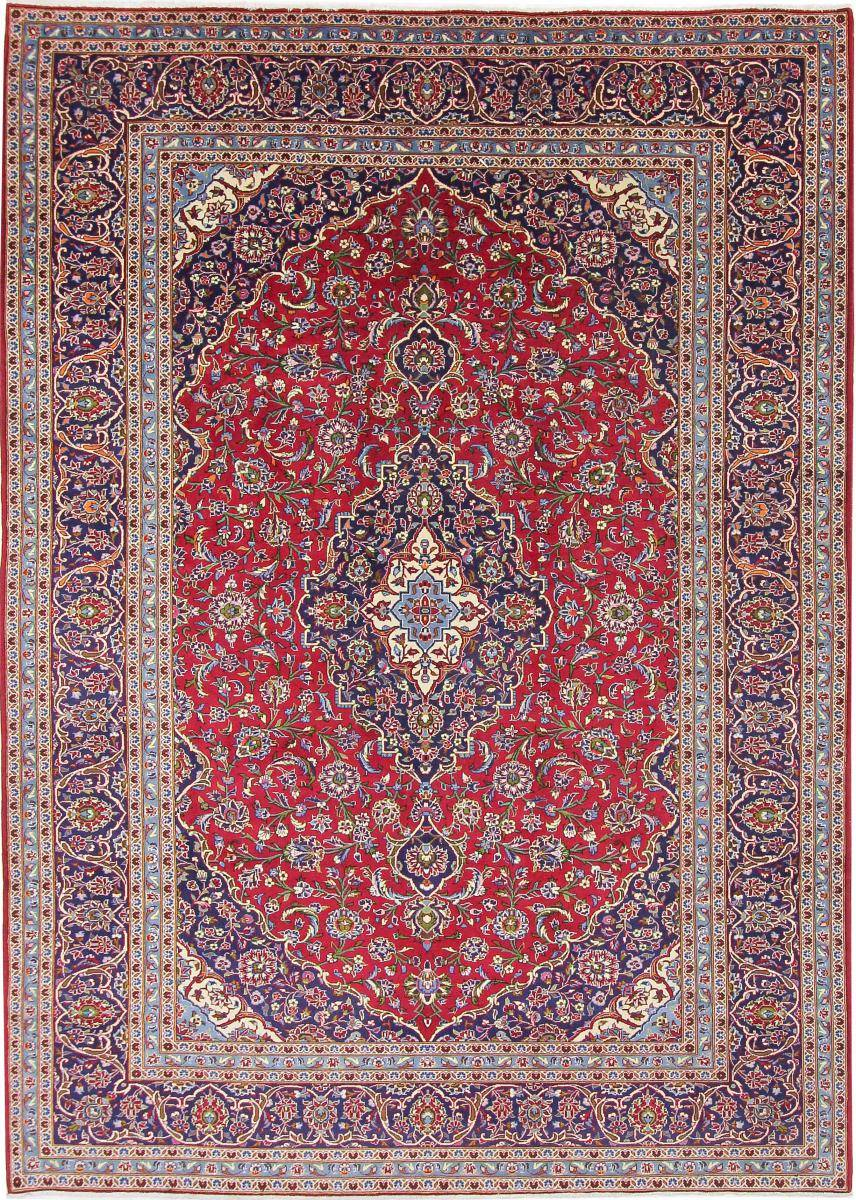 Nain Trading Tappeto Fatto A Mano Keshan 348x249 Rosso/Rosa (Lana, Persia/Iran)
