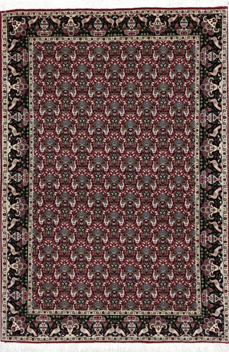 Nain Trading Tappeto Fatto A Mano Tabriz 50Raj 146x99 Beige/Marrone Scuro (Lana / Seta, Persia/Iran)