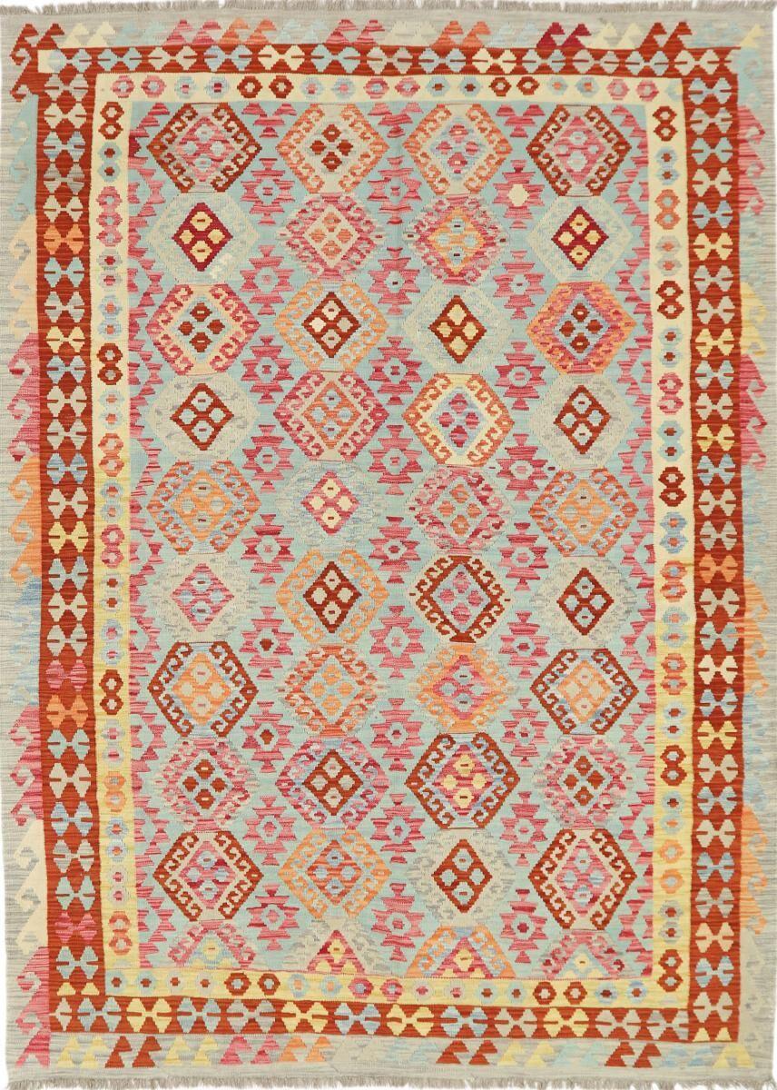 Nain Trading Tappeto Tessuto a Mano Kilim Afghan Heritage 284x209 Beige/Arancione (Lana, Afghanistan)