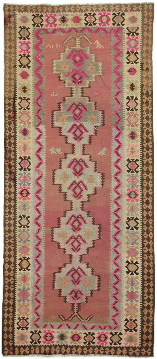 Nain Trading Tappeto Orientale Kilim Fars Azerbaijan Antico 451x196 Corridore Beige/Ruggine (Lana, Persia/Iran, Tessuto a mano)
