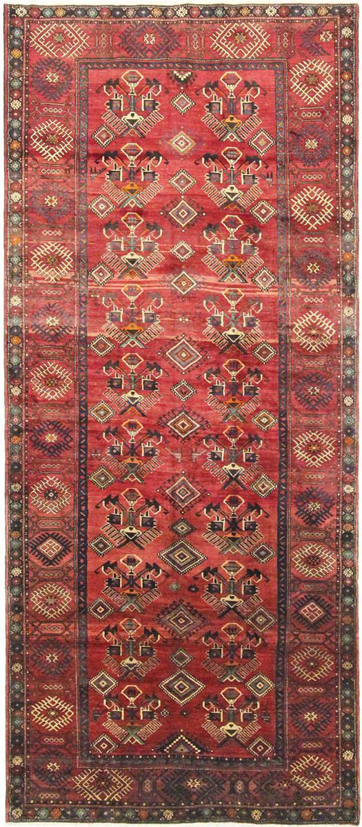 Nain Trading Tappeto Nahavand Antico 381x163 Corridore Rosso/Rosa (Lana, Persia/Iran, Annodato a mano)