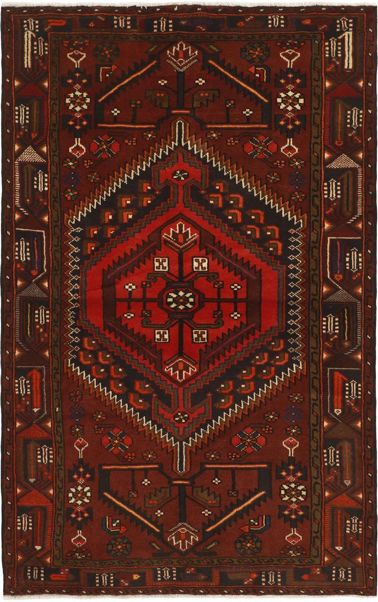 Nain Trading Tappeto Persiano Khamseh 207x130 Grigio Scuro/Marrone Scuro (Annodato a mano, Persia/Iran, Lana)