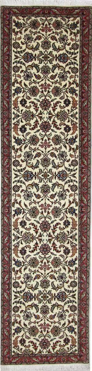 Nain Trading Tappeto Orientale Tabriz 50Raj 296x73 Corridore Grigio/Beige (Lana / Seta, Persia/Iran, Annodato a mano)