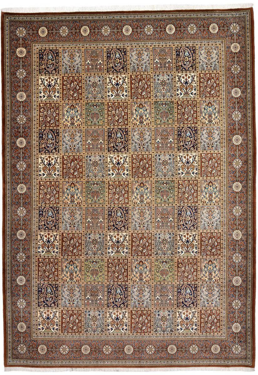Nain Trading Tappeto Orientale Qum Kork 345x246 Beige/Marrone Scuro (Persia/Iran, Lana, Annodato a mano)