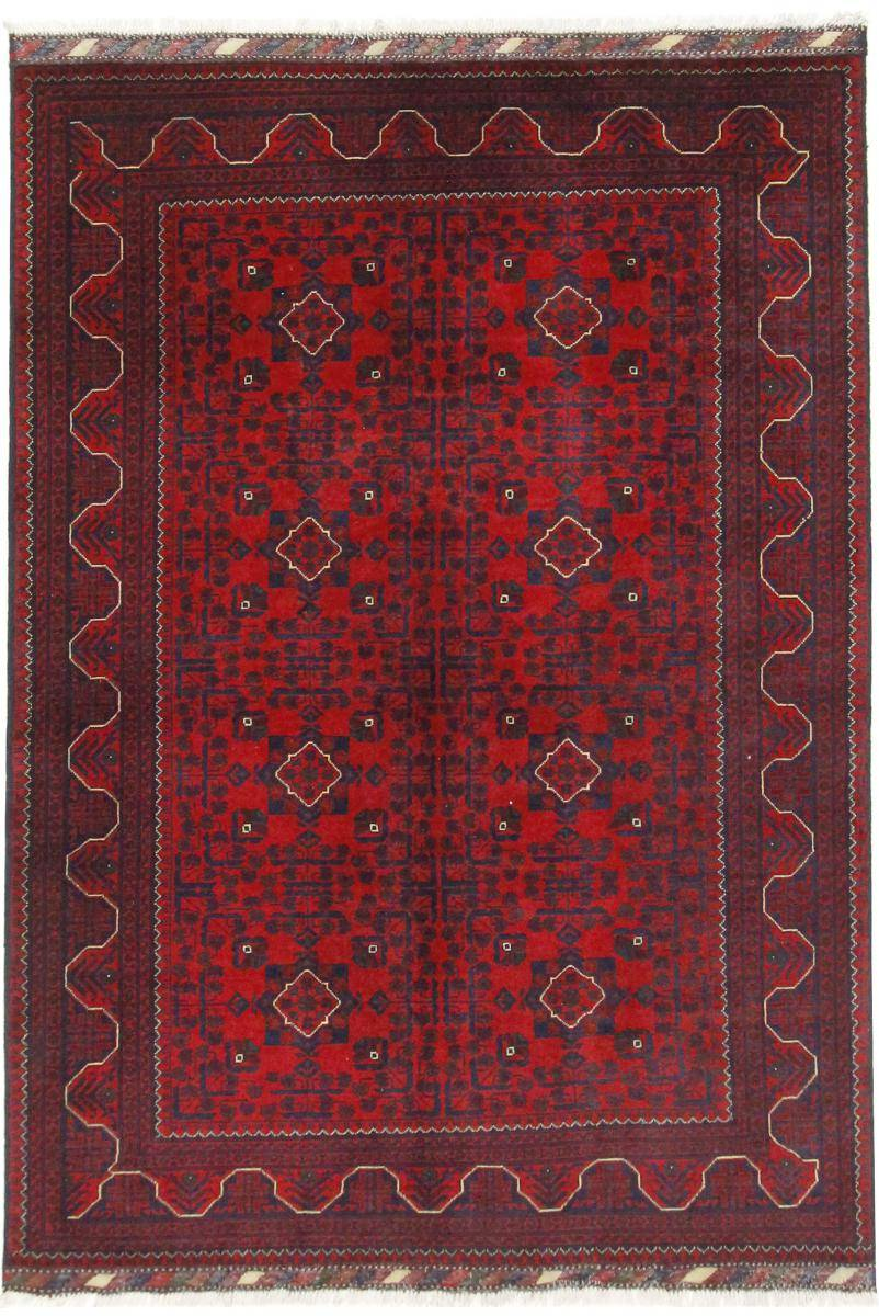 Nain Trading Tappeto Orientale khal Mohammadi Belgique 211x149 Marrone Scuro (Lana, Afghanistan, Annodato a mano)