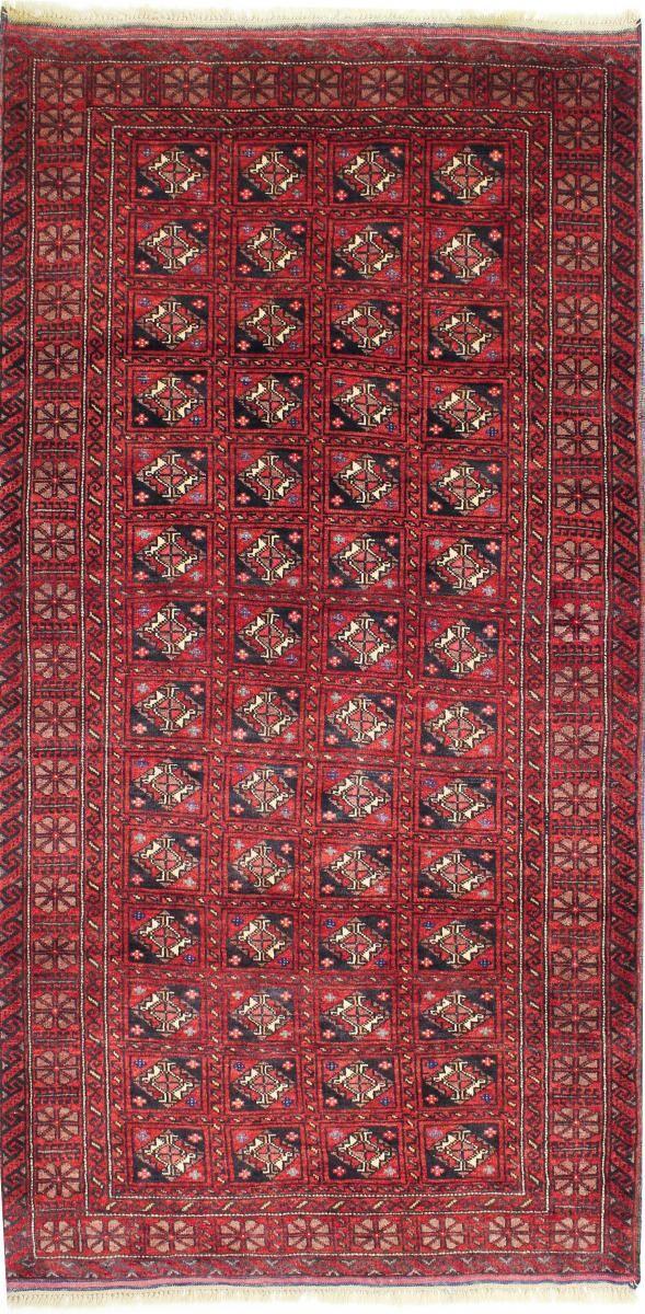 Nain Trading Tappeto Orientale Beluch 231x117 Corridore Rosso/Ruggine (Persia/Iran, Lana, Annodato a mano)