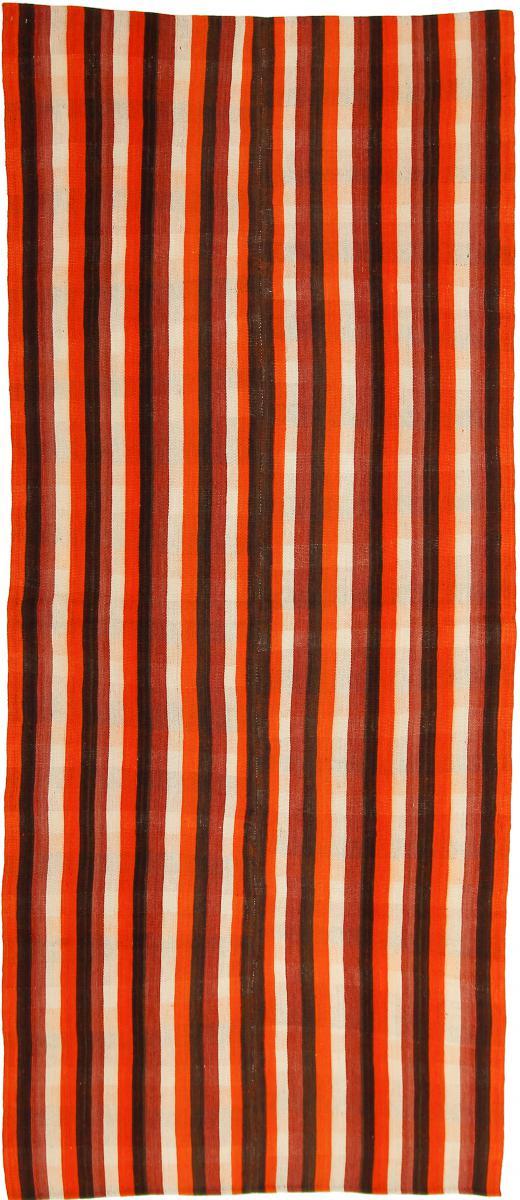 Nain Trading Tappeto Orientale Kilim Fars Antico 289x124 Corridore Beige/Marrone Scuro (Persia/Iran, Lana, Tessuto a mano)