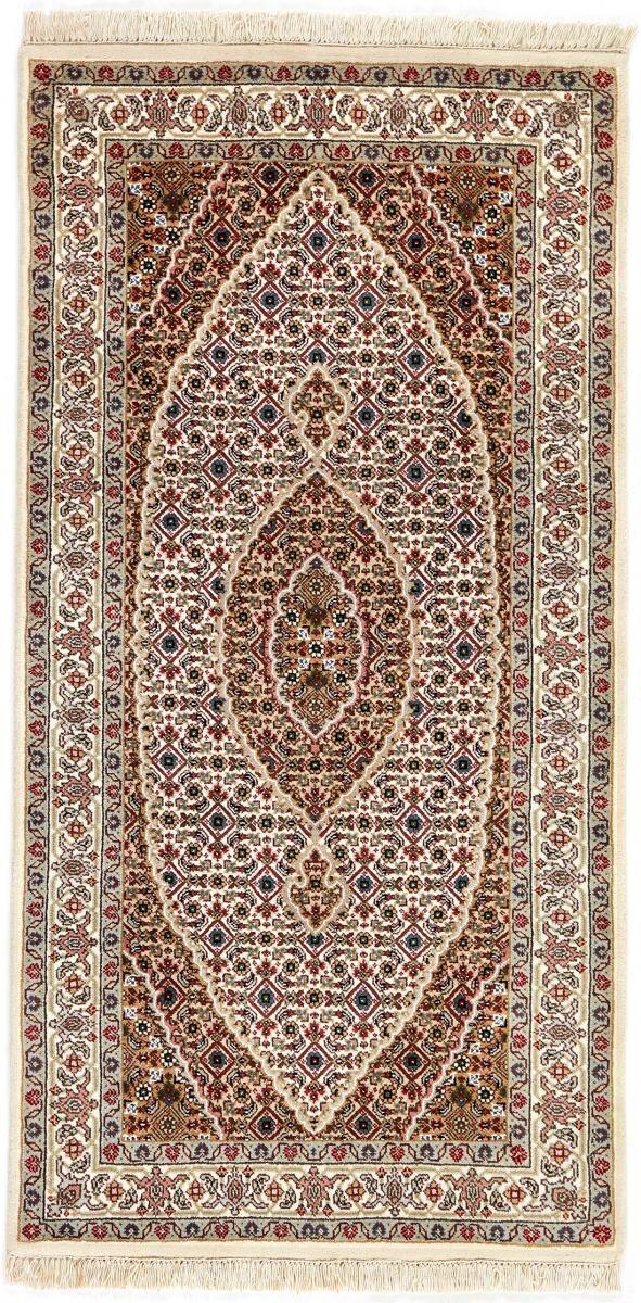 Nain Trading Tappeto Fatto A Mano Indo Tabriz Royal 140x72 Corridore Beige/Marrone (Lana, India)