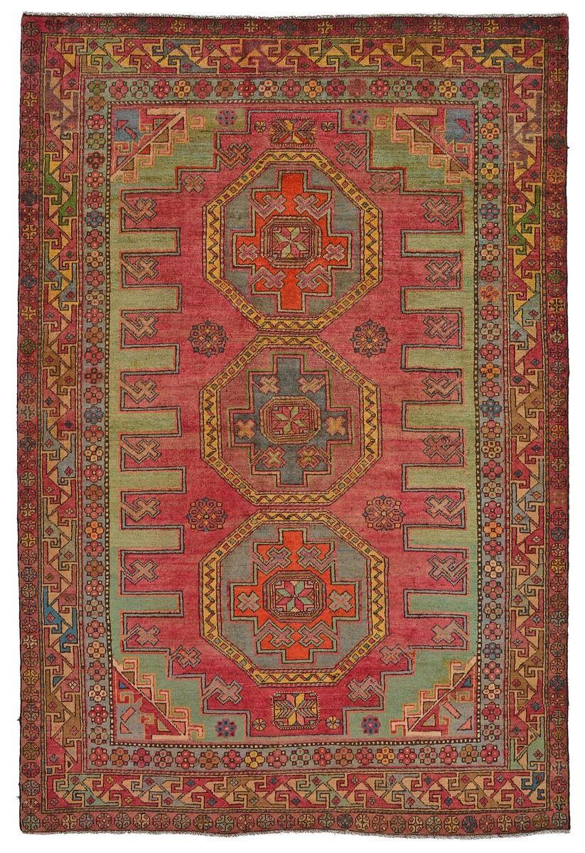 Nain Trading Tappeto Orientale Azerbaidjan Vecchio 207x140 Marrone/Arancione (Lana, Russia, Annodato a mano)