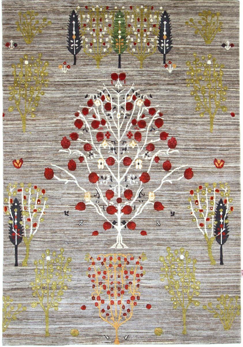 Nain Trading Tappeto Orientale Design Gabbeh Loribaft 241x166 Grigio Scuro/Beige (Lana, India, Annodato a mano)